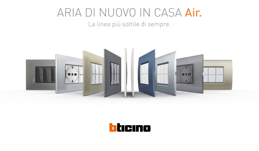 Catalogo BTicino 2017: Placche Air